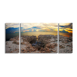 Ready2HangArt - Ready2hangart Bruce Bain 'Rocky Horizon' Canvas Wall Art - This beautiful canvas wall art is from photographer Bruce Bain. His work employs elements of imagination to capture a variety of subjects. It is fully finished, arriving ready to hang on the wall of your choice.