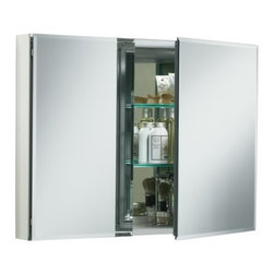 "KOHLER - KOHLER K-CB-CLC3526FS Aluminum Two-Door Medicine Cabinet with Square Mirrored Do - KOHLER K-CB-CLC3526FS 35""W x 26""H x 5""D Aluminum Two-Door Medicine Cabinet with Square Mirrored Door"