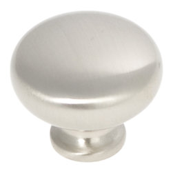 "Hickory Hardware - Cottage Satin Nickel Cabinet Knob, 1 1/4"" - Bridges contemporary and traditional design. Offering a deep rooted sense of history in some, with an updated feel and cleaner lines."