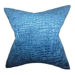 The Pillow Collection - Jensine Blue 18 x 18 Solid Throw Pillow - - Pillows have hidden zippers for easy removal and cleaning  - Reversible pillow with same fabric on both sides  - Comes standard with a 5/95 feather blend pillow insert  - All four sides have a clean knife-edge finish  - Pillow insert is 19 x 19 to ensure a tight and generous fit  - Cover and insert made in the USA  - Spot clean and Dry cleaning recommended  - Fill Material: 5/95 down feather blend The Pillow Collection - P18-D-362244-LAPIS-P100