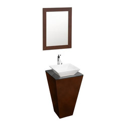 Wyndham Collection Esprit 20'' Custom Bathroom Pedestal Vanity WC-CS004-20-ESP - Constructed of beautiful veneers over the highest grade MDF