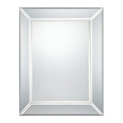Quoizel - Quoizel Mirror X-6141RQ - Beveling to the mirror and the frame helps to create a subtle traditional feel to this cleanly stylized Quoizel Lighting mirror. This transitional mirror features coordinating mirrored trim, creating a clean and versatile look that will compliment any setting.