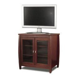 """Tech Craft - Tech-Craft Veneto Series 30"""" Walnut Tall Boy LCD/Plasma Wood TV Stand - Tech Craft - TV Stands - SWD30"""