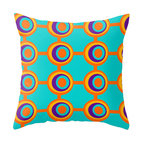 Crash Pad Designs - Modern Mid Century Inspired Accent Pillow - A fun pillow can change an entire room. Style your room with this mod & playful pillow. This pillow is Fenton. On a sofa, a chair, or bed it's sure to make you smile. Double sided print pillow, made from 100% spun polyester poplin fabric w/ a hidden zipper closure & a polyester fill insert. Original Crash Pad Designs fabric.
