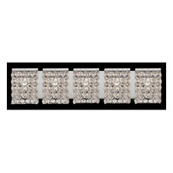 Z-Lite - Z-Lite 184-5V Waltz 5 Light Bathroom Vanity Light - Glimmering crystal shades define this sophisticated five light vanity, and sparkle beautifully against polished chrome hardware.Specifications: