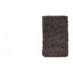 Anji Silky Shag Graphite 3' x 5' - Softer and silkier than traditional shag rugs, our Silky Shag Graphite creates a uniquely luxurious look. Custom blended from cotton and rayon made from bamboo, these rugs are remarkably soft and deliciously luxurious, for sharp, sustainable style. A small amount of shedding is normal when these rugs are brand new. Available in five sizes; backed with cotton and natural latex.Care: Vacuum without beater brush, or use suction attachment only. Professional cleaning is recommended for stained or soiled rugs. Dimensions: 3'W x 5'L.