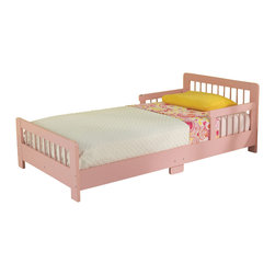 "KidKraft - Kidkraft Kids Children Home Indoor Bedroom Furniture Slatted Pink Toddler Bed - Our Slatted Toddler Bed helps make the transition from a crib to a regular bed as easy as possible. Young boys and girls will feel all grown up when they go to sleep in a real bed instead of a crib. Dimension: 51.57""x 28.27""x 18.15"""