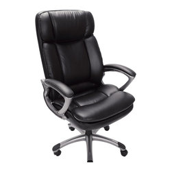 Serta by True Innovations - Serta Office Chair in Puresoft Black Faux Leather - Serta by True Innovations - Office Chairs - 43675 - About This Product: