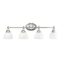 Kichler Lighting - Kichler Lighting 5370CH Pocelona Chrome 4 Light Vanity - 4, 100W Medium