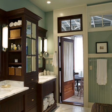 Beach Style Bathroom by Our Town Plans