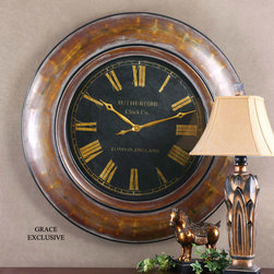 "6751 Tyrell, Clock by Uttermost - Get 10% discount on your first order. Coupon code: ""houzz"". Order today."