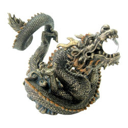TLT - 10.5 Inch Cold Cast Bronze Good Luck and Harmony Chinese Dragon Statue - This gorgeous 10.5 Inch Cold Cast Bronze Good Luck and Harmony Chinese Dragon Statue has the finest details and highest quality you will find anywhere! 10.5 Inch Cold Cast Bronze Good Luck and Harmony Chinese Dragon Statue is truly remarkable.