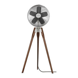 Fanimation - FP8014SN Arden Floor Fan, Satin Nickel - Traditional Floor Fan in Satin Nickel from the Arden Collection by Fanimation.