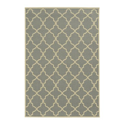 Newport Area Rug, Gray - This is the perfect example of a simple pattern that is eye-catching. The Moroccan style adds a worldly look, and there are several color combinations to choose from.
