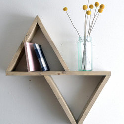 Geometric Shelf II by The 807 - Simple and sophisticated, these triangles shelves add class and purpose to your wall.