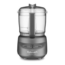 Cuisinart Mini Food Processor Chopper Grinder Onyx - The Cuisinart Mini-Prep Plus is the perfect little helper for small food preparation from chopping herbs or bread crumbs to finely grinding hard cheese. Its versatility lies in the special Auto Reversing Smart Blade which makes it easier to process both soft and hard foods.Designed in Italy with the same look as Cuisinart's newly launched PowerPrep Plus the Mini-Prep Plus' sleek touch pad controls afford easy cleaning and an elegant look. And despite its space-saving size it's more powerful than other choppers. So now you can prepare small quantities of food faster and more efficiently than ever before.