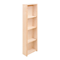 """Hardware Resources - Pantry Door Mount Cabinet.  12"""" x 4-7/8"""" x 45-5/8"""".  Feature - Pantry Door Mount Cabinet.  12"""" x 4 7/8"""" x 45 5/8"""".  Features adjustable shelves and clear UV finish.  Mounts to the inside of hinged pantry door.  Species:  Hard Maple.  Ships assembled with removeable shelves and shelf supports."""