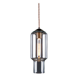 Reclamations - NEW YORKER Art Deco Inspired, Pendant Light, (Copper with Clear Glass) - The New Yorker pendant light is inspired by the 1930's Art Deco architecture of New York City.