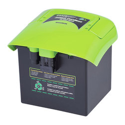 """Frontgate - Earthwise Self-Propelled 24v Replacement Battery - 24 volt system. 3-in-1 grass disposal: mulch, side discharge, rear bag. Single lever height control (1-1/2"""" to 4""""). Easy on and off mulch plug, grass catcher, discharge chute. Handle mounted safety blade control. Maintain your lawn and enjoy the smoother movement with the Earthwise Self-propelled Cordless Mower. Cutting the grass is easier with the 24-volt system, 3-in-1 grass disposal and advanced technology of push button/soft touch operation. With ball bearing wheels, a comfort """"V' handle with cushion grip and easy-to-read LED power level display, this mower cuts chore time in half and lets you relish in a freshly manicured lawn.  .  .  .  .  . Ball bearing wheels rolls easy and last longer . Easy two step battery removal . Runs up to 1-1/2 hours on a full charge . No tools required; hand tighten assembly."""