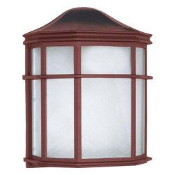 """Nuvo Lighting - Nuvo Lighting 60-582 1-Light CFL 10"""" Cage Lantern Wall Fixture - Nuvo Lighting 60-582 1-Light CFL 10"""" Cage Lantern Wall Fixture (1) 13W GU24 Lamp Included"""