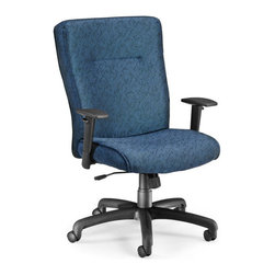 OFM - OFM Exec Conference Chair with Adjustable Arms in Blue - OFM - Office Chairs - 6062332 - Choose a classic chair with extra style with OFM's Executive/Conference Chair Model 606. Features a flexible transitional design and your choice of fashionable stain-resistant fabric upholstery that will enhance any office dcor. Finding the right fit is
