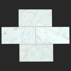 Stone & Co - Bianco Carrara 3x6 Honed Marble Tile - The Bianco Carrara collection or white Carrara Collection allows you to play with colors for your interior. Besides getting a lovely option of pure white on tile, this collection also features a white grey hue to try. With these two colors you can create a modern or classic looking theme in your home according to preference.Any plain looking house has a chance of being tweaked up by the right size and color in the Bianco Carrara or White Carrara collection. There is sophisticated inspiration about these tiles which will complement your high end European furniture, state of the art kitchen or a modernly designed bathroom. The possibilities of playing with size and color gives you an advantage of trying different options before deciding what suits you best.The Bianco Carrara floor tile collection not only upgrades your home, the ambience it creates speaks volume about your personality as well. Do you want your guests to go wow each time they walk into your home? Bianco Carrara collection is the renovation you are looking for!This collection is the answer to making your living room, kitchen or bathroom posh looking. The tiles are tough and durable, and we have the best experts to help you install the tiles.