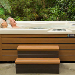 Backyards & Decks Featuring the Highlife Collection - The Jetsetter 3 person hot tub