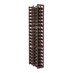 "Wine Racks America - 2 Column Double Deep Cellar in Pine, Walnut - Double the convenience of the 1 column version. Fit 6 cases of wine on less than 10"" of wall space! This wooden wine rack is perfect for creating maximum storage capacity from every little nook and cranny without more wall space. This rack is built to last. Guaranteed."