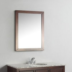 Simpli Home Burnaby 22-in. Vanity Mirror - What's a vanity without a mirror? Pair your Simpli Home Burnaby vanity with the Simpli Home Burnaby 22-in. Vanity Mirror, a refined, cool mirror that's perfect for your home. This durably constructed, dark brown-finished mirror will bring the best out of your bathroom. Plus, you'll look great in it's bevelled glass reflective surface. Hanging hardware included.About Simpli HomeSimpli Home is a quickly growing manufacturer of finely constructed modern furniture designed to transition perfectly into their customers homes. They produce a wide variety of furnishings, from coffee tables to bathroom vanities. Only the strongest, most durable materials are used to construct the companys contemporary, stylish, and functional products.