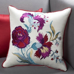 Sandy Wilson 18 x 18 in. China Flower Decorative Pillow