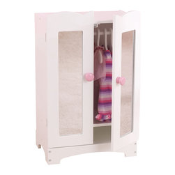 "KidKraft - Kidkraft Kids Home Indoor Fun Dresser Pretend Play Toy Lil Doll Armoire Set - Our Lil Doll Armoire is the perfect place for a young girl to store her favorite dolls outfits and accessories. Dimension: 11.61""Lx 7.76""Wx 18.90""H"