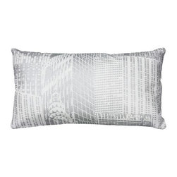 Home Decorators Collection - Metallic City Scene Pillow - With eye-catching silver skyscrapers, the Metallic City Scene Pillow takes your decor to new heights. Toss this accent pillow on an easy chair to give it a bit of urban chic. Hidden zipper closure. Includes polyester fill insert. Machine washable. Made in India.