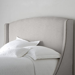"""Bernhardt """"Felix"""" Headboard, Heather Gray - With its clean and simple lines, this bed evokes a sense of effortless chic."""