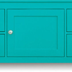 Laguna Media Center - This clean-lined traditional cabinet is looking to the future. It's fully outfitted to serve as a media cabinet, yet it would work well in any room that needs some extra storage, whether it be a playroom or a bedroom.