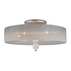 Elk Lighting - Elk Lighting 20006/5 Alexis Traditional Semi Flush Mount Ceiling Light - Elk Lighting 20006/5 Alexis Traditional Semi Flush Mount Ceiling Light in Antique Silver