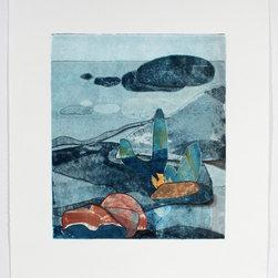 "Lost Art Salon - ""Desert To The Sea"" Original Rob Delamater Landscape Abstraction, 2014 - ""Desert To The Sea"" Original Rob Delamater Landscape Abstraction, 2014"