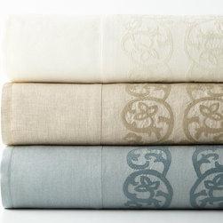 """Pom Pom at Home - King Allegra Duvet Cover w/ Embroidered Insets 108"""" x 90"""" - CREAM - Pom Pom at HomeKing Allegra Duvet Cover w/ Embroidered Insets 108"""" x 90"""""""