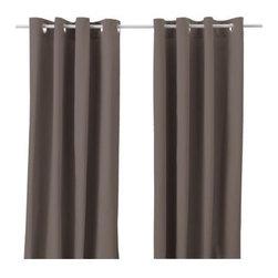 MERETE Pair of curtains - Pair of curtains, brown