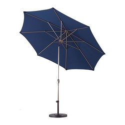Phat Tommy - 9 Ft. Market Patio Umbrella in Navy Blue - Base not included
