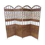 """Master Garden Products - Willow Screen, 4 Panel Divider, 72"""" W x 60""""H - Our self standing willow screen and room dividers can be used indoors or outdoors, in residential or any commercial facilities, to divide an area for privacy or to create an extra room. They can be folded and stored away easily when not in use. Our self standing willow screens are great for outdoors and indoors."""