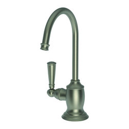 """Newport Brass - Newport Brass 2470-5613 Jacobean Single Handle Hot Water Dispenser - Product Features:    Faucet body constructed of brass  Covered under a 10 year warranty  Premier finishing process � finishes will resist corrosion and tarnishing through everyday use  Single handle operation  Quarter-turn washerless ceramic disc valve cartridge  ADA compliant � complies with the standards set forth by the Americans with Disabilities Act for kitchen faucets  Spout assembly with integral supply hoses  Spring-loaded, normally closed lever handle    Product Specifications:    Overall Height: 9-3/8"""" (measured from counter top to highest part of faucet)  Spout Height: 6-5/8"""" (measured from counter top to spout outlet)  Spout Reach: 4-3/4"""" measured from center of faucet base to center of spout outlet)  Flow Rate: 1.5 gpm  Faucet Holes: 1 (number of holes required for faucet installation)  Designed for use with standard U.S. plumbing connections"""