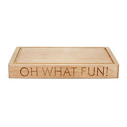 Oh What Fun! Cheese Board - This adorable cutting board is festive for the holiday season and useful all year long.