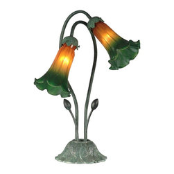 Dale Tiffany - New Dale Tiffany Lamp Green Metal Inline - Product Details