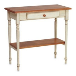 Office Star Products - Foyer Table in Antique White - Place this timeless table in your foyer to greet guests with style. This functional table offers a convenient place to stow keys, phones and other necessities near your front door, so they're always within reach on your way out.