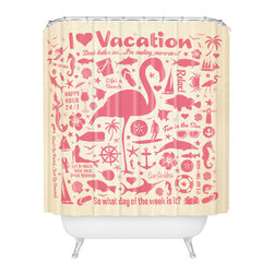 DENY Designs - Anderson Design Group Flamingo Pattern Shower Curtain - Who says bathrooms can't be fun? To get the most bang for your buck, start with an artistic, inventive shower curtain. We've got endless options that will really make your bathroom pop. Heck, your guests may start spending a little extra time in there because of it!