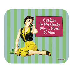 "620-Explain To Me Mouse Pad - Decorate your desk with your favorite art designs that look great and protect your mouse from scratches and debris. 100% Polyester face, 100% neoprene backing, permanently dye printed & fade resistant. 9.25"" x 7.5"""