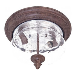 Minka-Lavery - Minka-Lavery Ardmore 2-Light Outdoor Flush Mount - 9909-61 - This 2-Light Outdoor Flush Mount has a Rust Finish and is part of the Ardmore Collection.