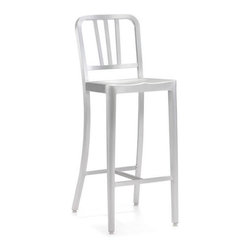 Zuo Modern - Zuo Bistro Bar Chair in Brushed Aluminum - Bistro Bar Chair in Brushed Aluminum by Zuo Modern This chair is made from light weight aluminum with a brushed finish. Bar Chair (1)