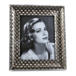 "Concepts Life - Concepts Life Photo Frame  Silver Pebble  8x10"" - Emulating a fine piece of jewelry, our Silver Pebble frame will add texture and depth to your photographs, making them the centerpiece of your photo collections.  Modern home accent Contemporary silver picture frame Beautiful and elegant home accent Rectangular photo frame Made of polyresin Textured finish Easel back for horizontal or vertical display Various sizes available Holds 8 x 10 in. size photo Dimensions: 12""w x 14""h x 1""d Weight: 3 lbs"