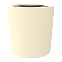 Decorpro - Medium Vienna Planter, Antique White - The Vienna planter is a more traditionally shaped pot. The round shape allows this planter to fit in with a wide variety of settings both indoors and outdoors.